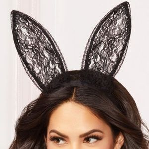 Accessories - Sexy Lace Bunny Ears Headband Halloween Costume